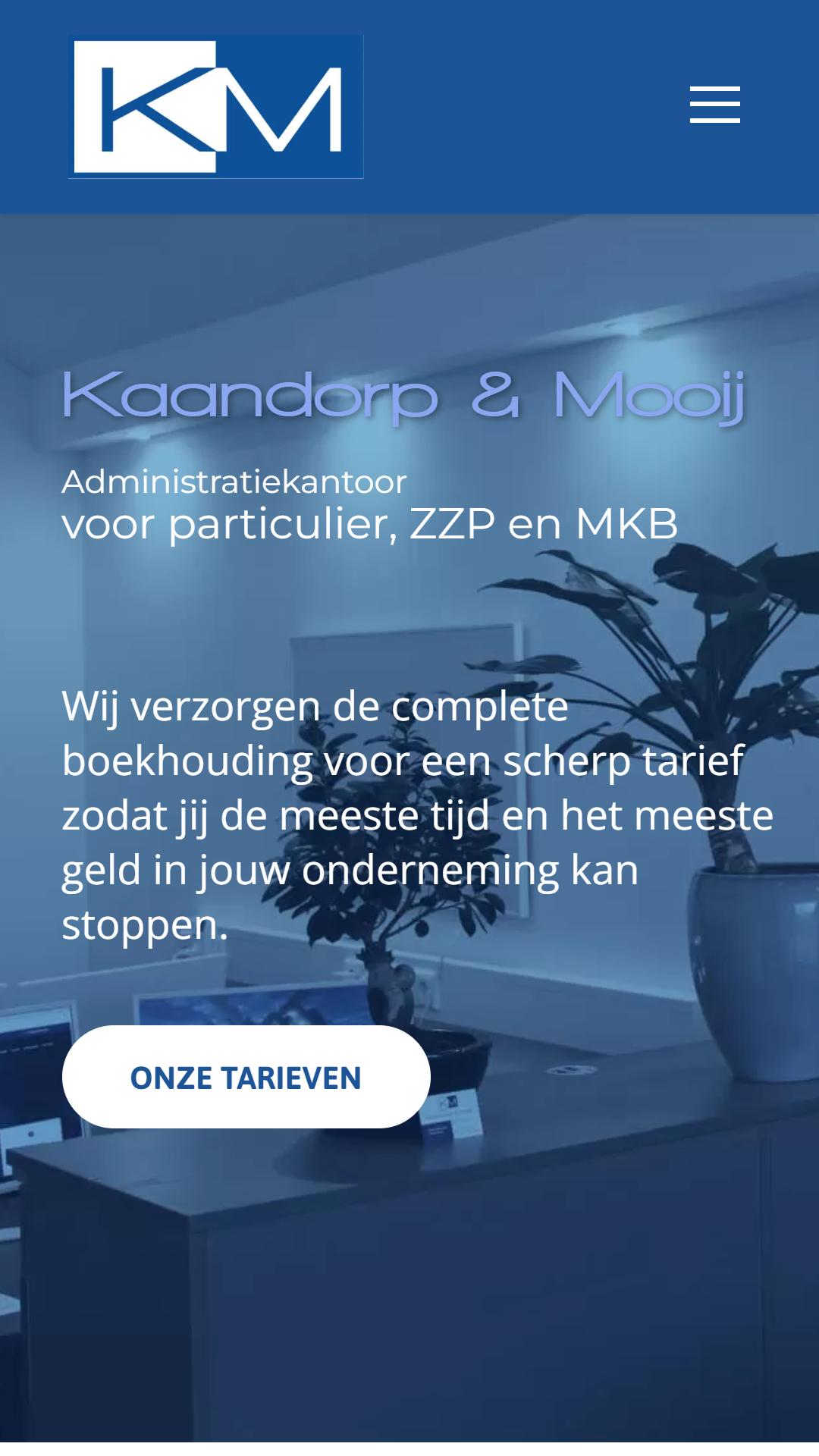 kaandorpmooij.nl - Nieuw - Mobielweergave