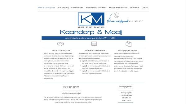 Kaandorp & Mooij - Before - Desktopweergave