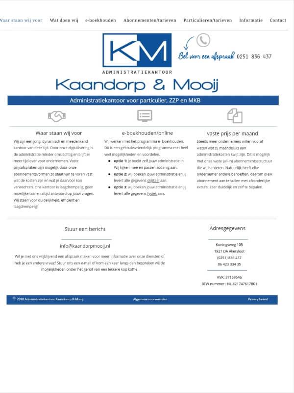 Kaandorp & Mooij - Before - Tabletweergave