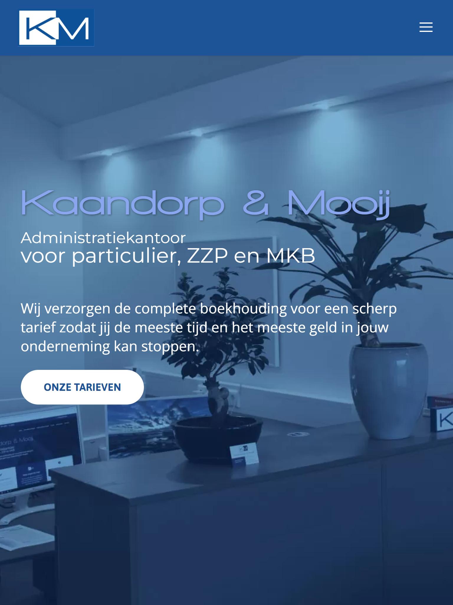 kaandorpmooij.nl - Nieuw - Tabletweergave