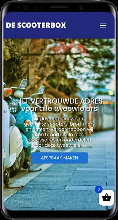 descooterbox.nl - WooCommerce webshop (mobiel)