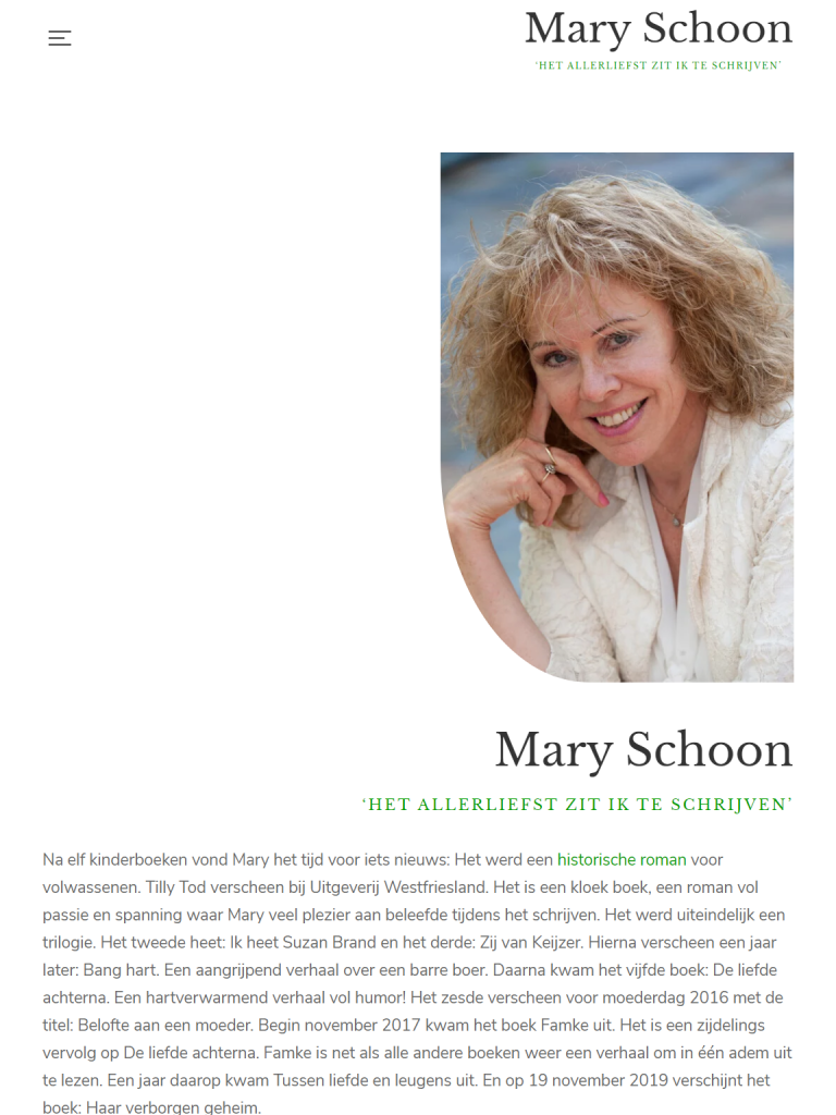 Mary Schoon - After - Tabletweergave