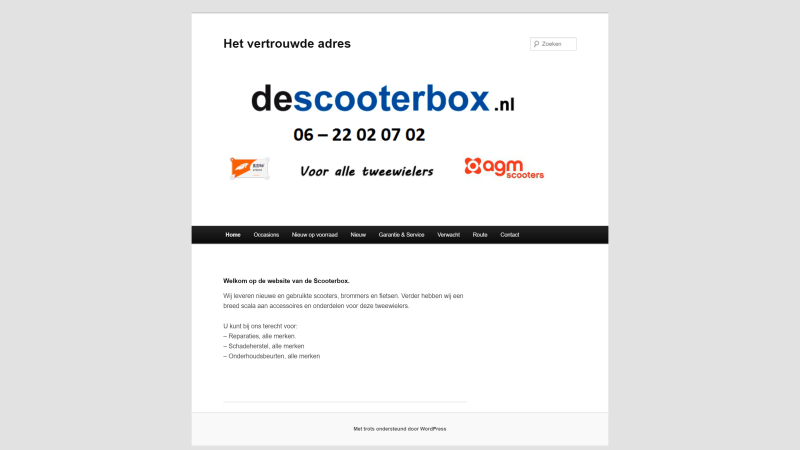 De Scooterbox - Before - Desktopweergave