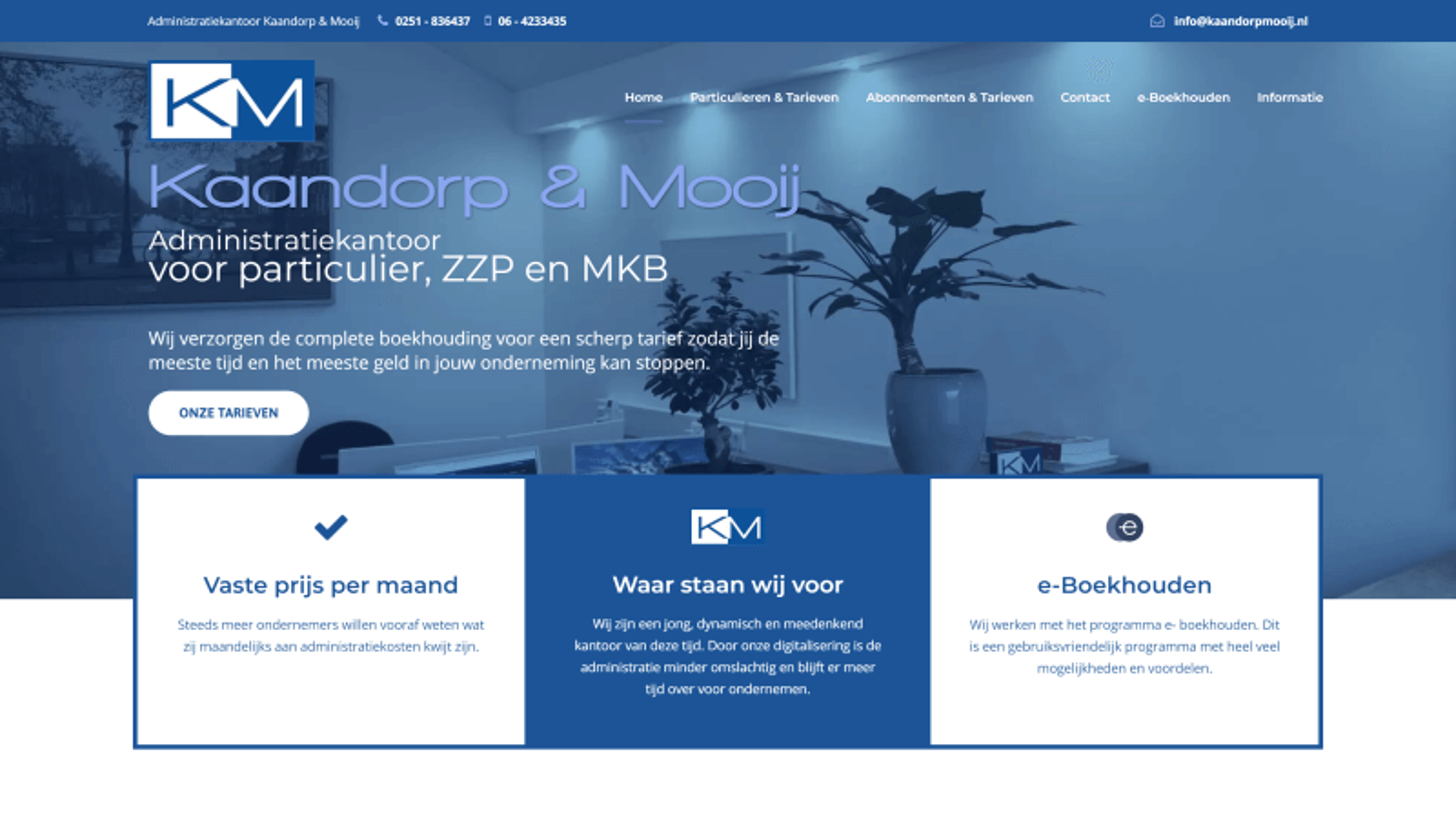 Professionele, moderne WordPress website