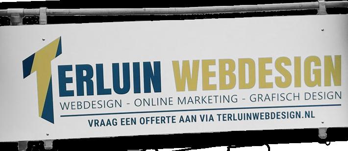 Sponsorbord Terluin Webdesign