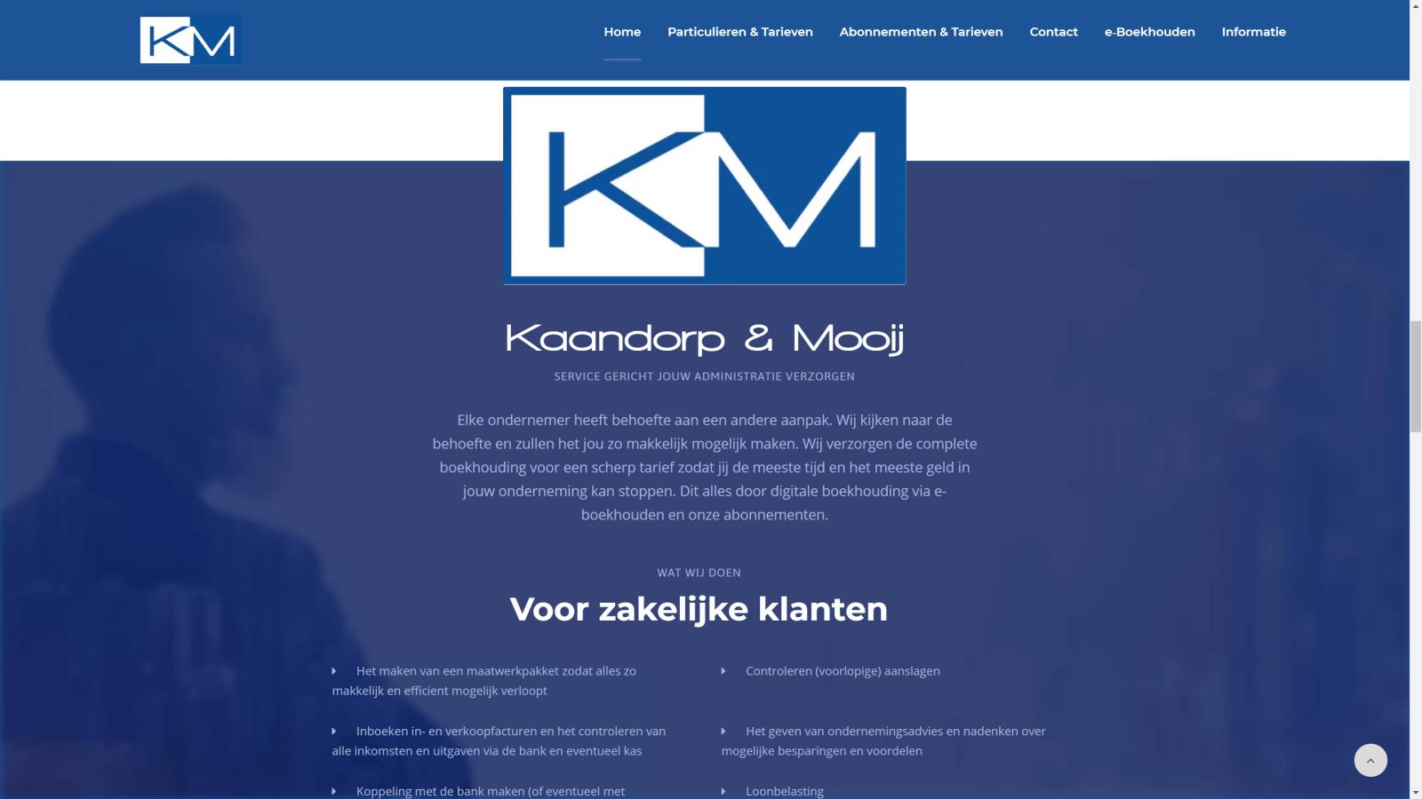 Kaandorp & Mooij - Wat wij doen
