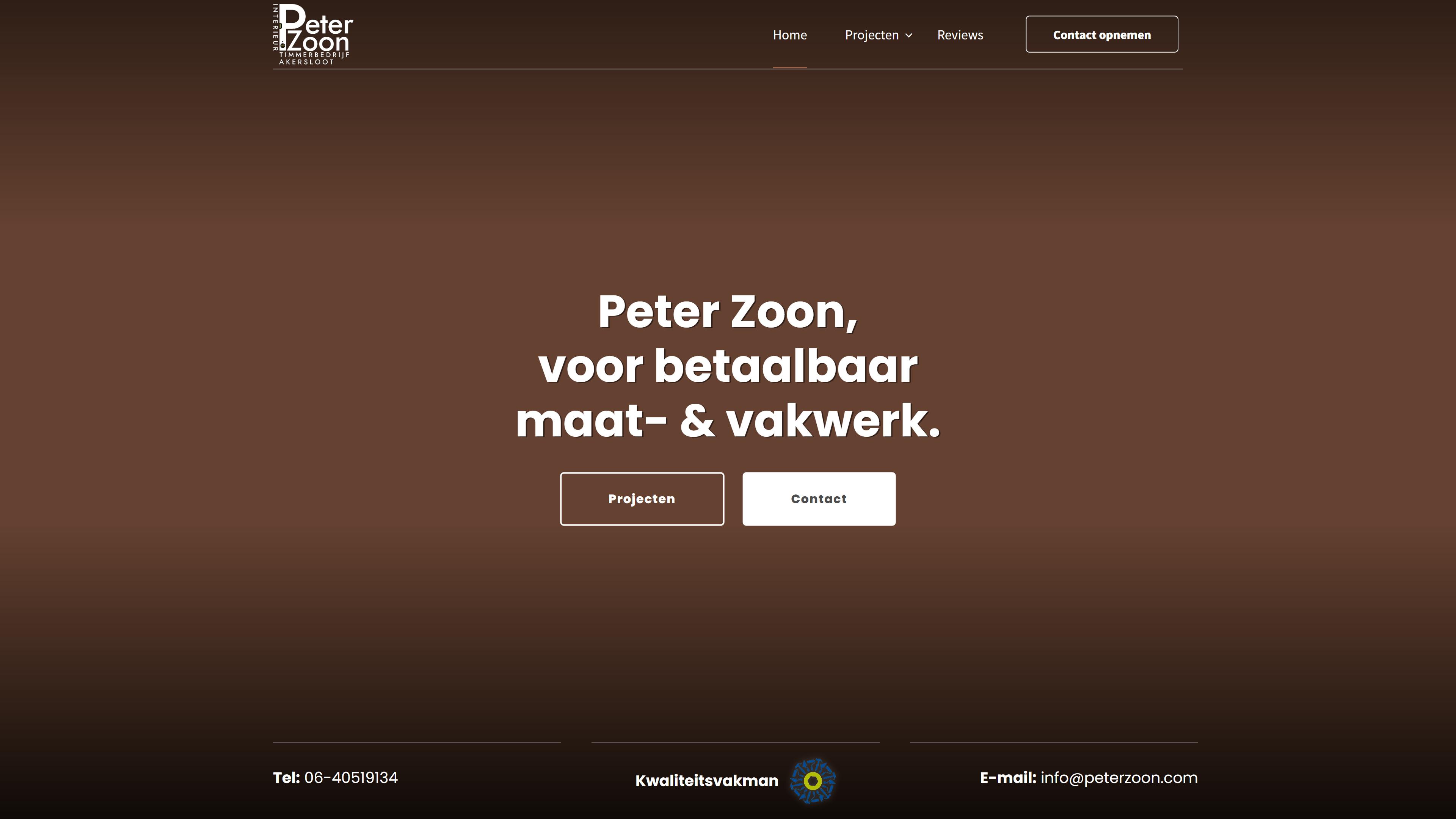 Peter Zoon - WordPress website