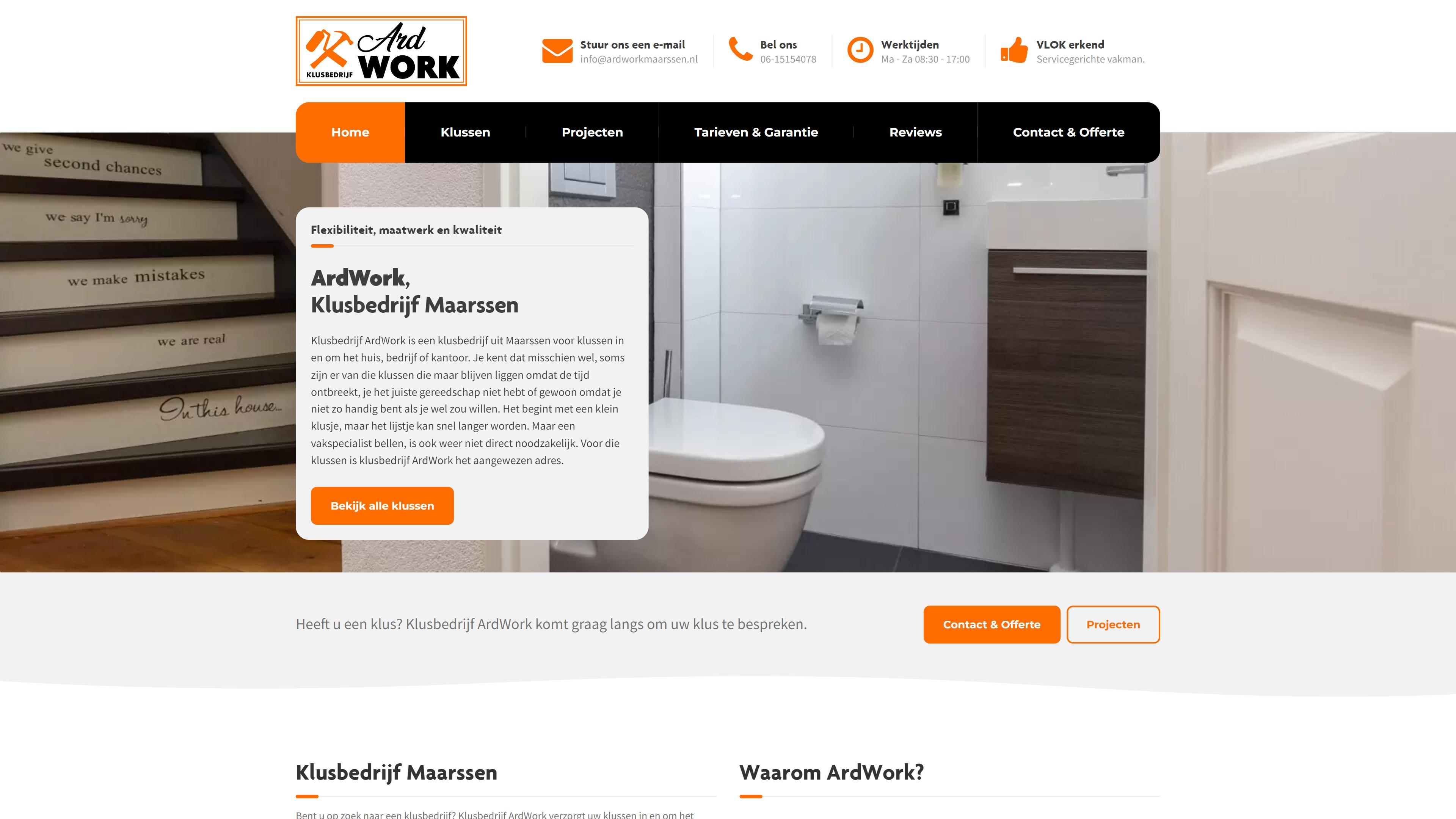 ArdWork - WordPress website
