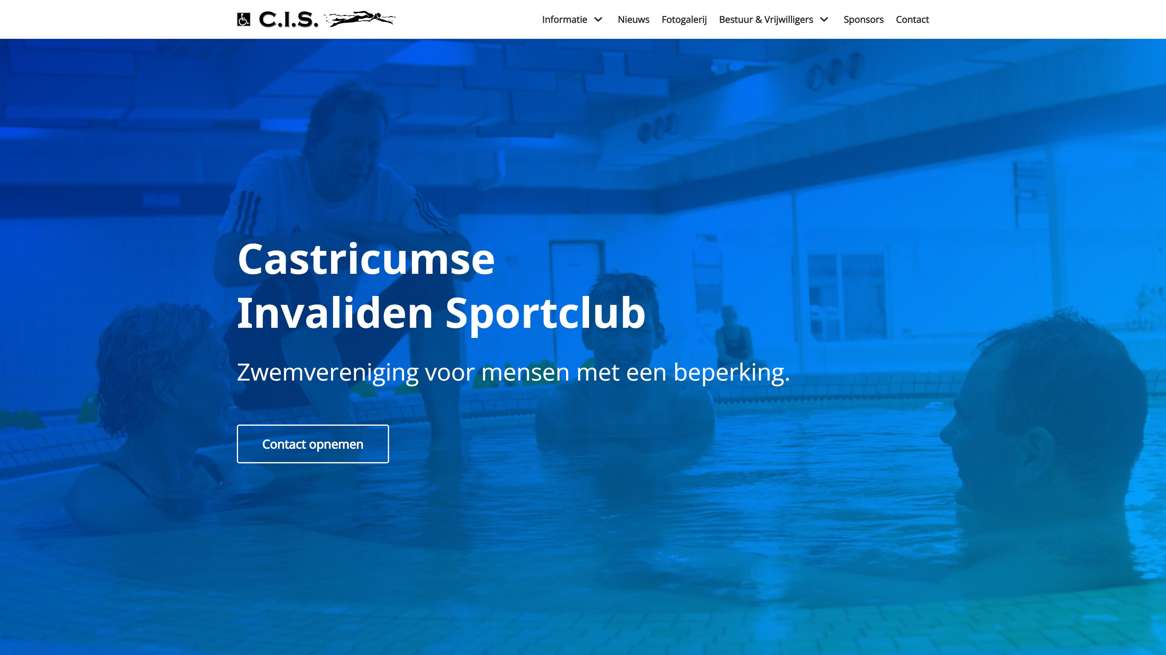 Zwemvereniging C.I.S. - WordPress website