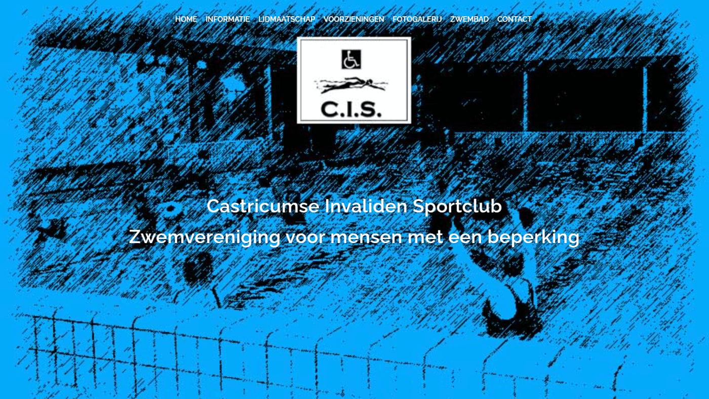 Zwemvereniging C.I.S. - Before - Desktopweergave